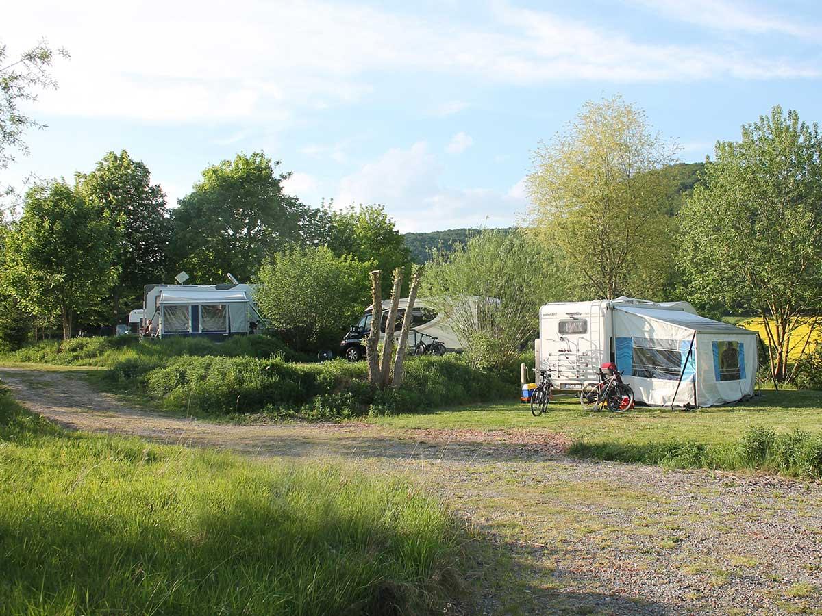 Stellplatz auf dem Campingpark Schellental